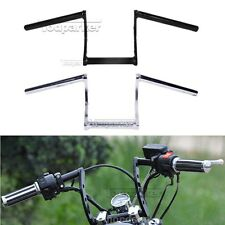 "Motorcycle Chrome Black Z Drag Bar 1"" Handlebar For Harley Sportster Dyna Bobber"