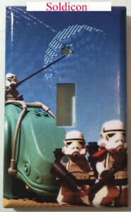 Lego Star Wars White Soldiers Light Switch Power Outlet Cover Plate