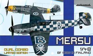 Eduard 1/48 Mersu Bf-109g En Finlande Dual Combo Édition Limitée #k11114