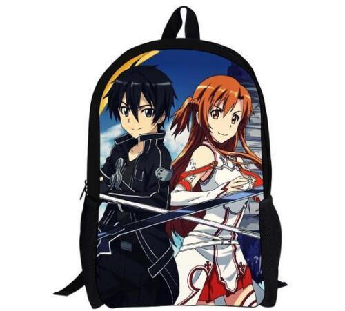 New Sword Art Online Vegeta Son Girls Boys School Backpack Kids