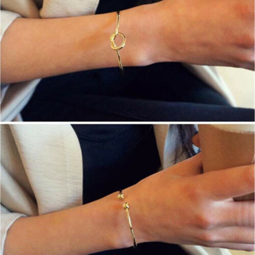 New Fashion Simple Alliage Bracelets nœud ouvert bracelet en métal Femmes Party Jewelry