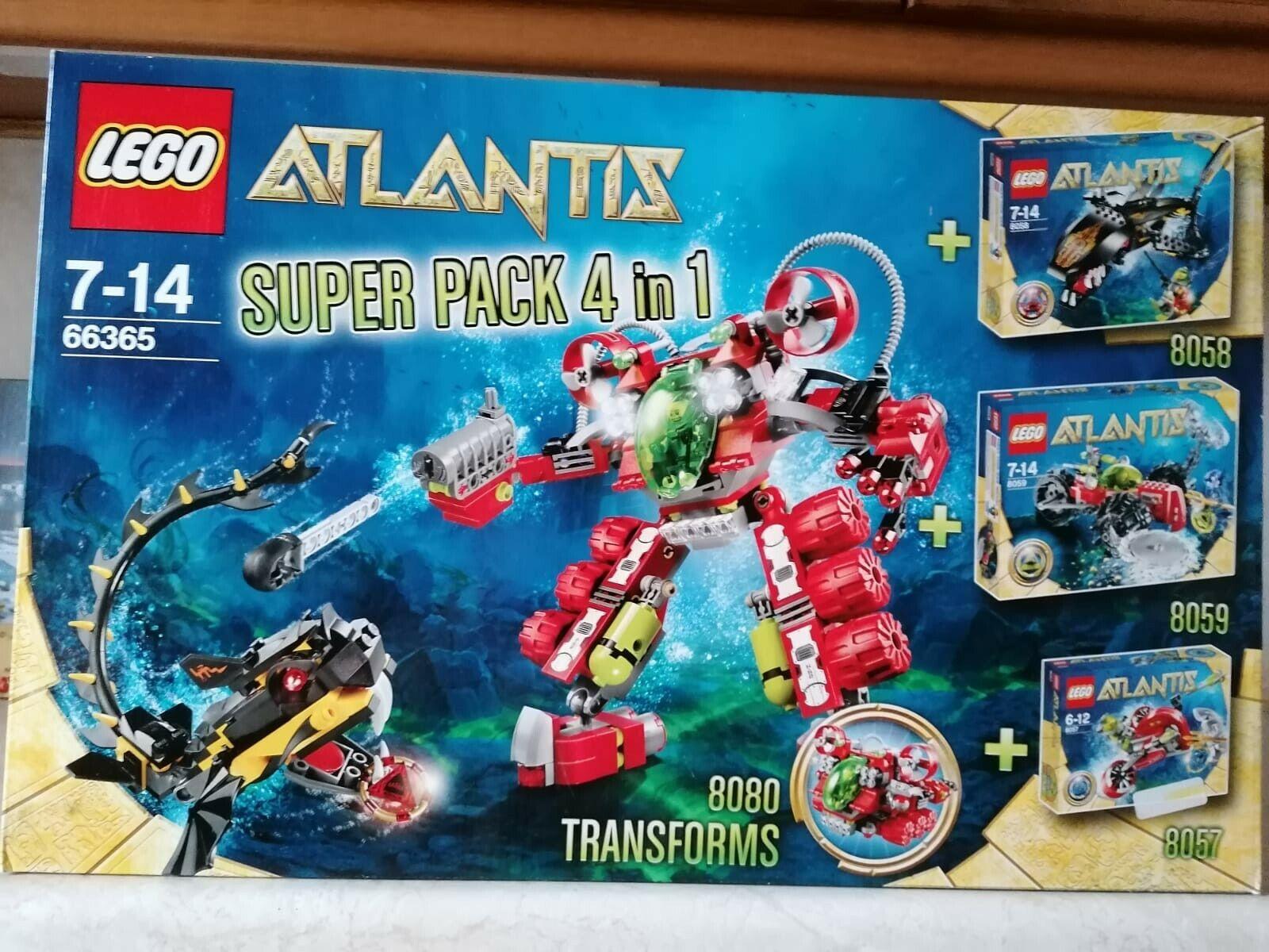LEGO SET 66365 NEU ATLANTIS SUPER PACK 4 IN 1