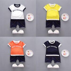 c70a8c6e7e8b 2PCS Toddler Baby Kids Boys Summer T-Shirt Tops+Casual Shorts Pants ...