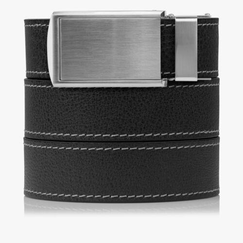 SlideBelts Factory Seconds Ash Dark Grey Full Grain Leather Ratchet Belt