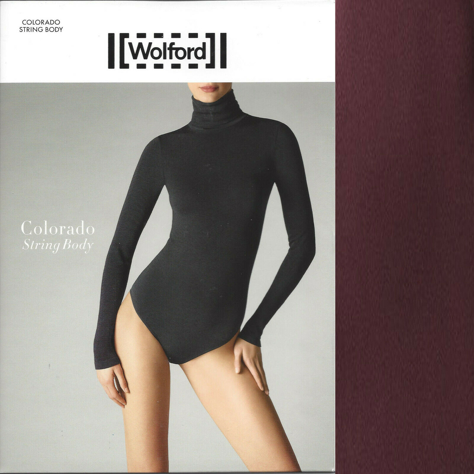 colorado String Body • M • deep purple  ... nahtlos, anschmiegsamer Rollkragen