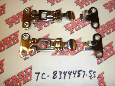 1948-1972 Ford pickup hidden tailgate latches-polished stainless