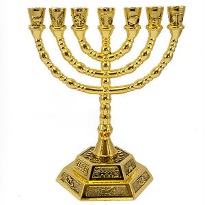 Gold-Plated-Menorah-Hanukkah-7-Branches-Gift-from-Jerusalem-Judaica-6-2-034