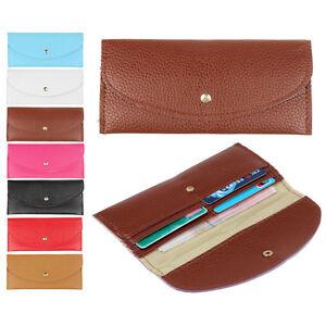 Women-Wallet-Purse-Candy-Colors-Envelope-Slim-Design-Card-Holder-Leather-Wallet