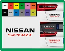 For NISSAN -  `NISSAN  SPORT` - CAR DECAL STICKER   195mm x 55mm