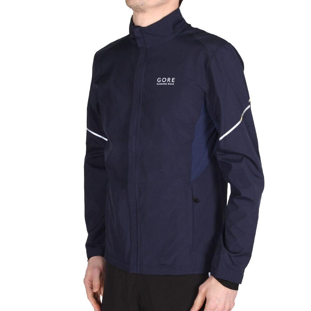 Gore Running Essential Vento Stopper Active Shell Partial Jacket nero Iris Blu