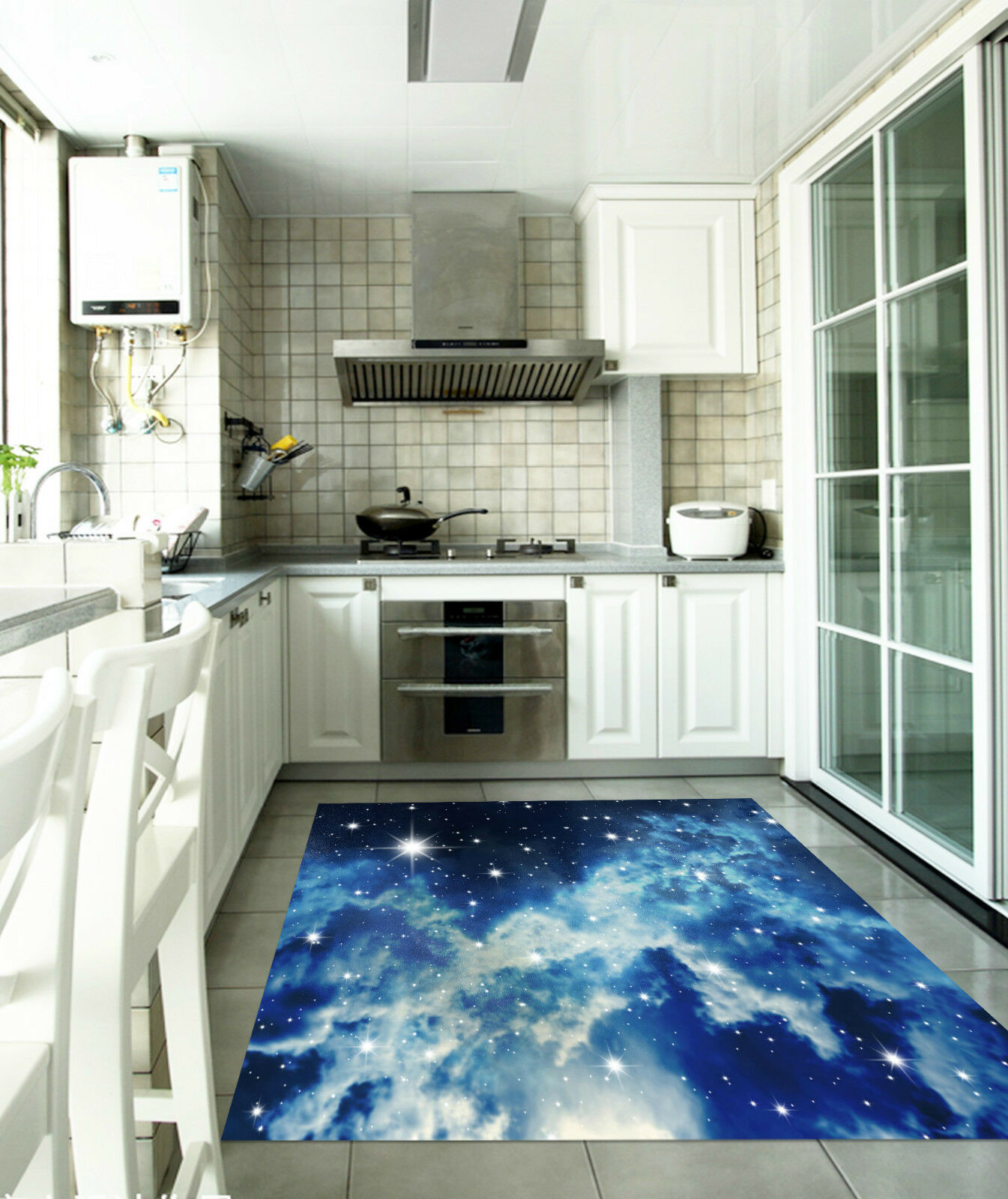 3D Stars Sky 017 Kitchen Mat Floor Murals Wall Print Wall Deco AJ WALLPAPER CA
