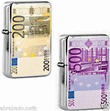 1 BRIQUET A ESSENCE BILLET 200 EUROS 500 EUROS