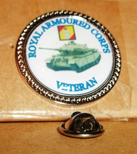 HM Armed Forces Royal Armoured Corps Veteran lapel pin badge .