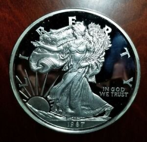 1987-Giant-Commemorative-Silver-Proof-Eagle-999-Silver-8-Ounces
