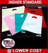 "16 x 18 x 3/"" 500pcs Polyethylene Plastic Patch Handle LDPE Shopping Bag Sale"