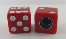 NEW LARGE SIZE 18MM RED//CLEAR Dice Valve Caps Old School BMX Fits SCHRADER VALVE