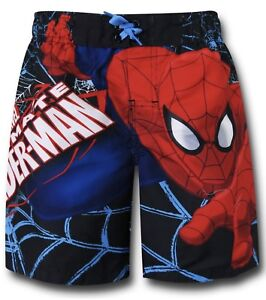 646de1d358ae6 Image is loading Marvel-Spiderman-Board-Shorts-Swim-Trunks-Swimsuit-Size-