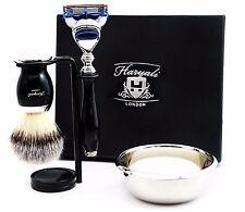 Complete 5 Piece Shaving Set |Gillette Fusion & Synthetic Brush | Men's Gift Kit