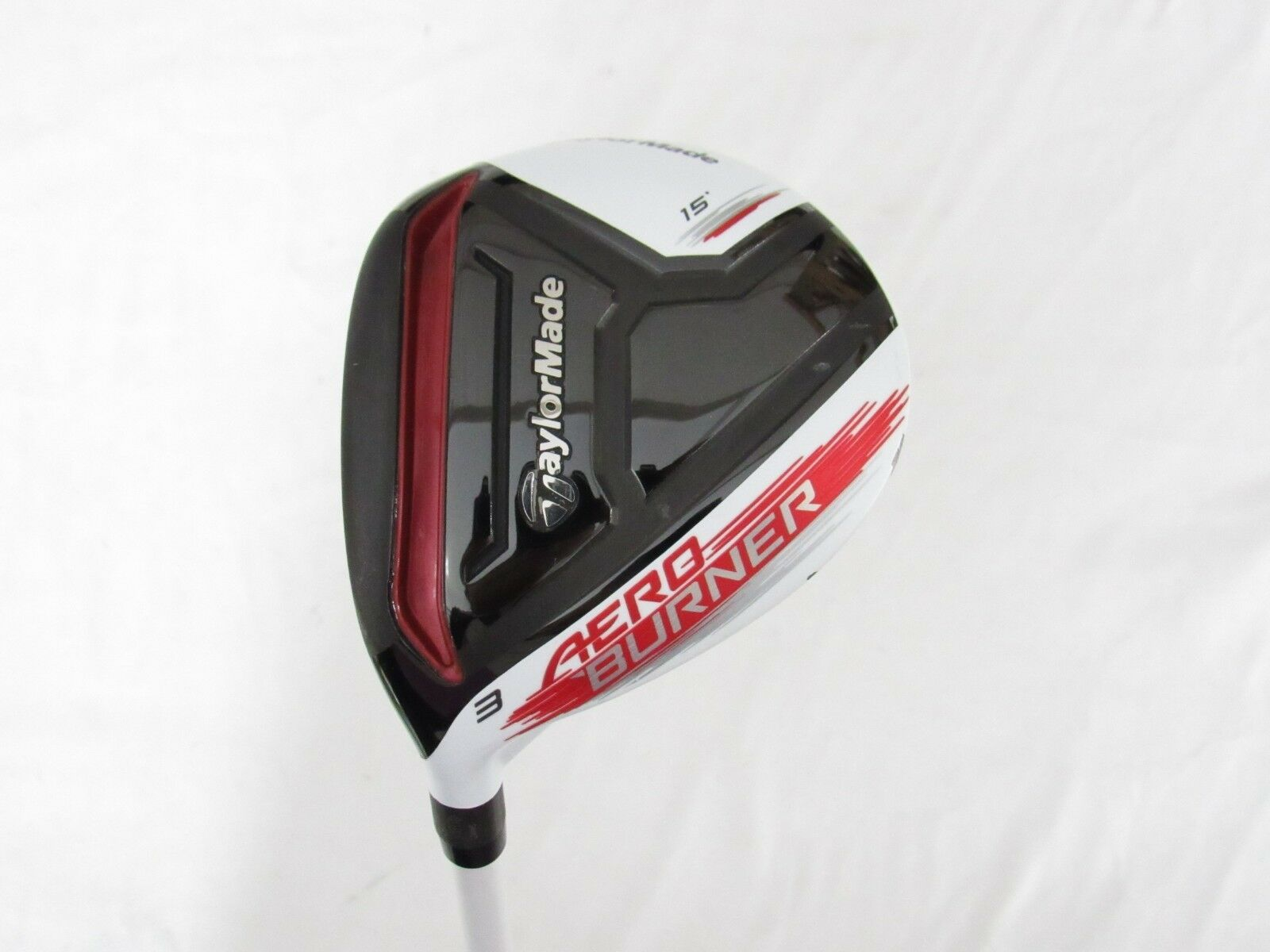 Used LH TaylorMade AeroBurner 15° 3 Fairway Wood Matrix Graphite Stiff S-Flex