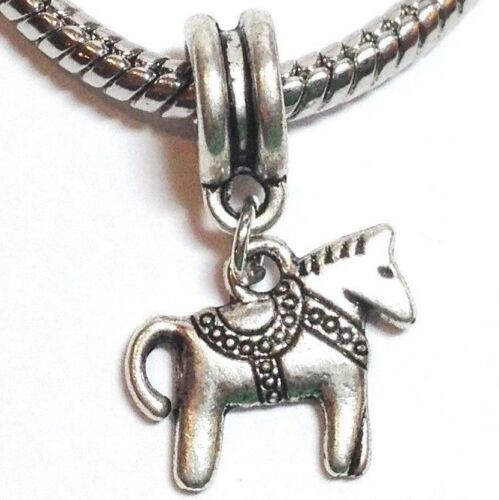 HORSE/_Bead for Silver European Charm Bracelet/_Pony Western Country Equestrian