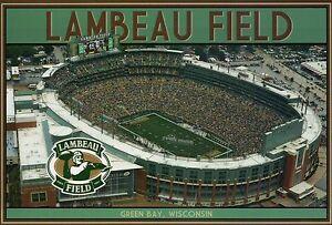Lambeau Field, NFL Green Bay Packers Football Stadium, Wisconsin, WI -- Postcard