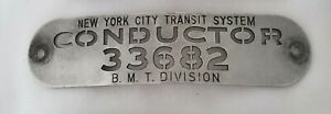 VINTAGE-NEW-YORK-CITY-TRANSIT-SYSTEM-CONDUCTOR-33682-CAP-HAT-BADGE