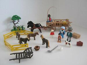 14# Western Bauernhof Bauern Familie mit Ponny und Kutsche