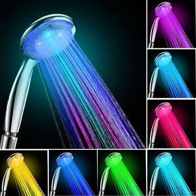 Romantic Automatic 7 Color LED Lights Handing Shower Head Faucet for Bathroom BO