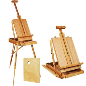 Adjustable-Folding-Art-Artist-Durable-Wood-Tripod-PaintBox-Easel-Stand-W-Display