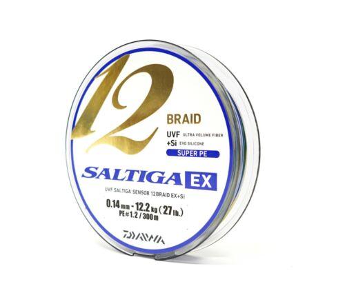 Various sizes 300m//328yd Daiwa Saltiga 12 Braid EX Multi Color