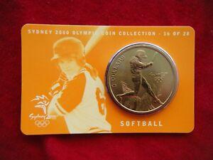 Sydney-2000-Olympic-Coin-Collection-5-UNC-RAM-Coin-SOFTBALL-16-28