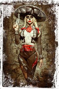 El-Mariachi-Muerte-par-Daveed-Benito-Poster-12x18-pouces