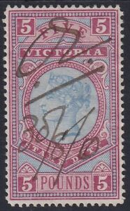 VIC-1884-96-high-value-Stamp-Duty-series-5-fiscally-used-SG-324
