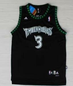 separation shoes 38d48 2898f Details about Minnesota Timberwolves Stephon Marbury #3 black jersey all  size