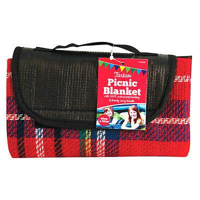 Picnic Blanket Waterproof Backing Tartan Pet Travel Rug LARGE Fold Camping Mat