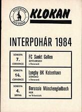 1984 Bohemians Prag - FC St. Gallen, Lyngby Kopenhagen, Borussia Mönchengladbach