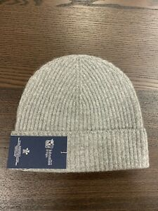 100-Cashmere-Beanie-Hat-Johnstons-of-Elgin-Made-in-Scotland-Grey-Soft