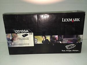 GENUINE SEALED LEXMARK 12015SA BLACK TONER  OEM NEW