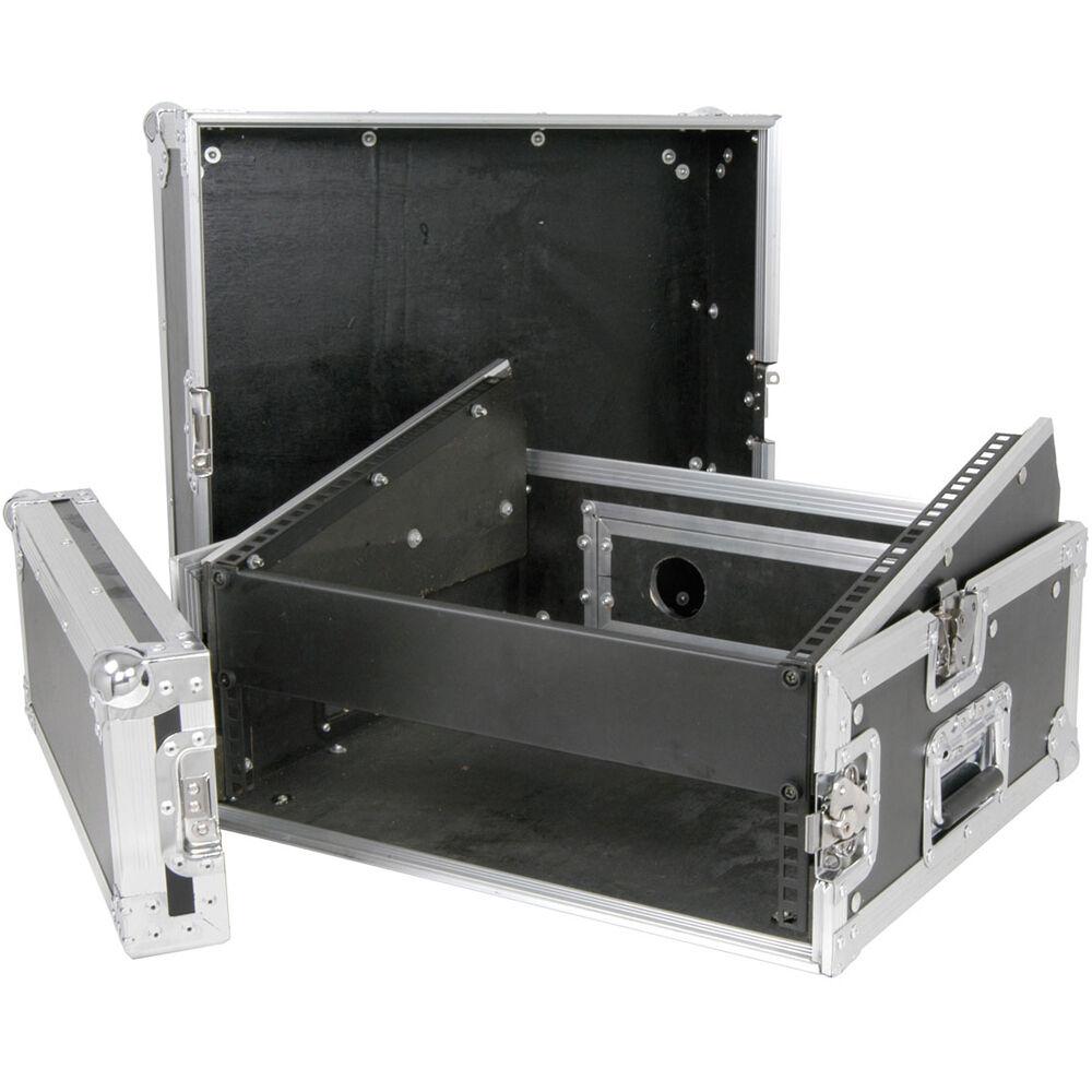 "19"" 2 8U Quality Equipment Flight Case - Patch Panel Amplifier Transit Handle PA"