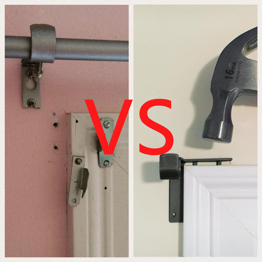 kwik hang double center support curtain rod bracket into. Black Bedroom Furniture Sets. Home Design Ideas