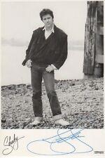 Shakin` Stevens Autogramm signed 10x15 cm Postkarte s/w
