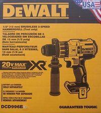 """NEW DEWALT DCD996B 20V 20 Volt Lithium Ion Brushless 1/2"""" Hammer Drill Sealed"""