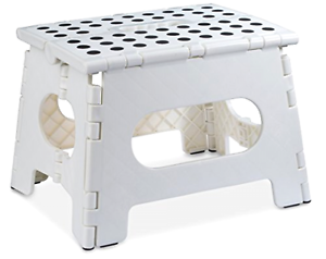 Small Folding Step Stool With Non Slip Grip Dots Home