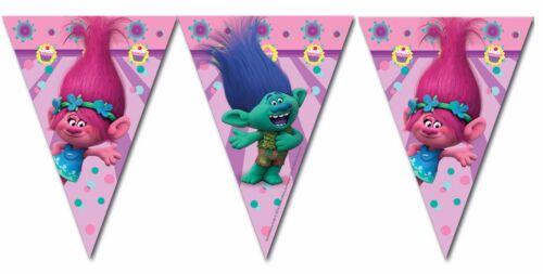 7.5ft x troll trolls film fête d/'anniversaire drapeau bunting décoration