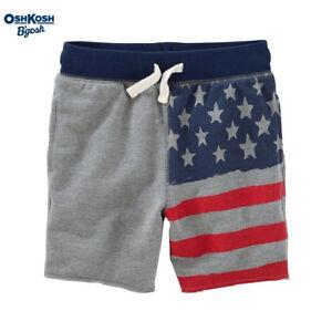 NWT Oshkosh Boy Cotton Shorts Gray 8,14