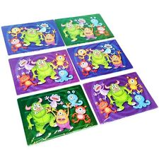 30 Small Monster Jigsaw Puzzles - Halloween Pocket Money Toys