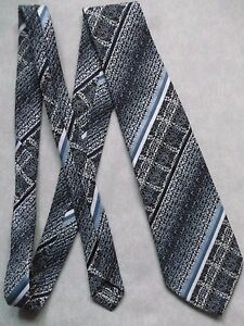 Vintage-TOOTAL-Tie-Mens-Necktie-Retro-1980s-Fashion-TEXTURED-NAVY