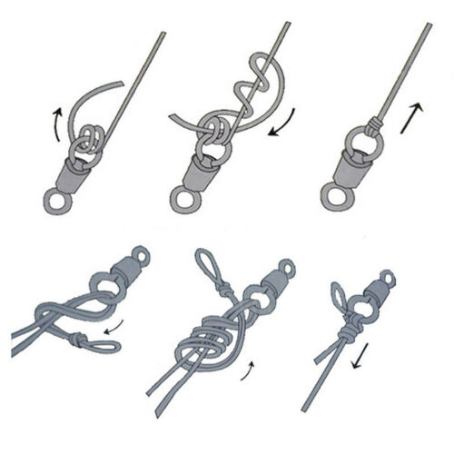 100Pcs Fishing Barrel Bearing Swivel Stainless Steel Solid Ring Connector useful
