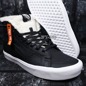 Black Hi Sherpa Shoess85138 True Men's Vans Sk8 White Skate Lite wXPZOukTi