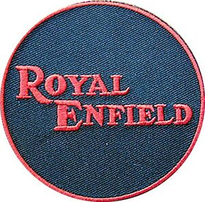 Royal-Enfield-iron-on-sew-on-cloth-patch-ff-round-red-black